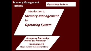 Memory Management in Operating System-1