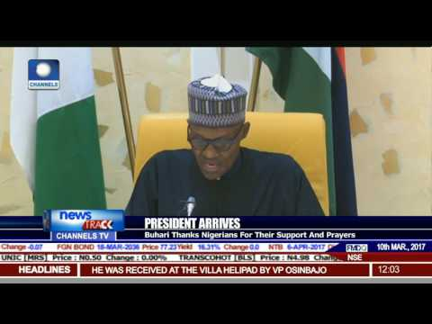 Buhari Commends Osinbajo's Effort, Ask Him to Continue.