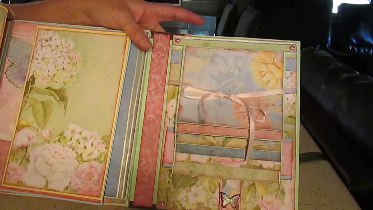 Scrapbooking Mini Album Floral Prints From K Company Paper