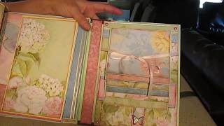 Scrapbooking mini album floral prints from K Company paper collection