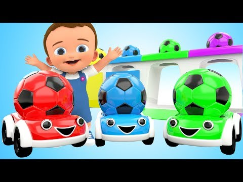 Learn Colors for Children with Baby 3D SoccerBalls Toy Cars Kids Toddler Educational Learning