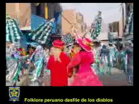 Folklore peruano desfile de los diablos