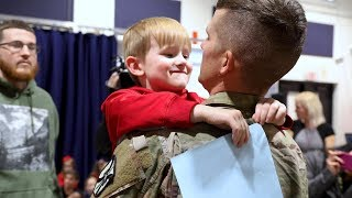 Soldier returns to surprise son for holidays