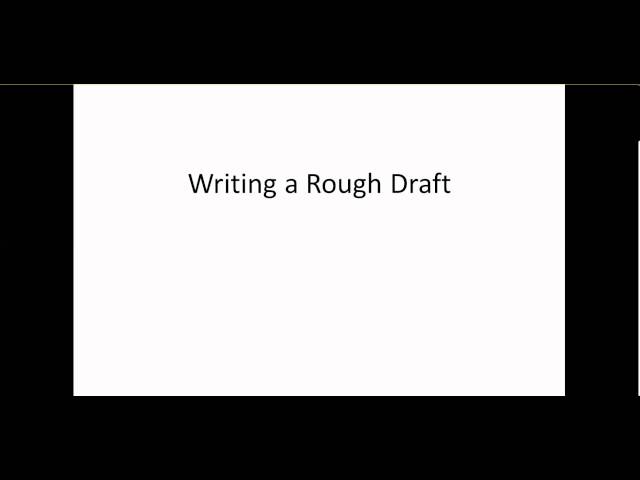 how to write a rough draft steps pictures wikihow