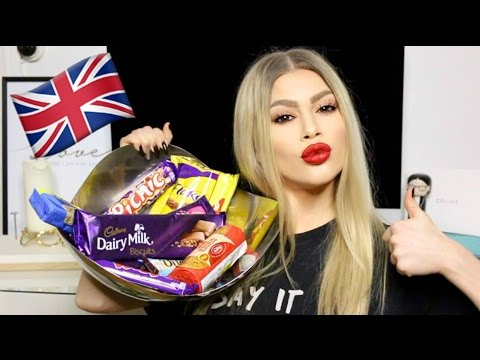 DANISH GIRL TRYING BRITISH CANDY!
