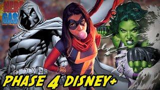 New Marvel Phase 4 Characters Disney Plus - Ms. Marvel, Moon Knight, She-Hulk