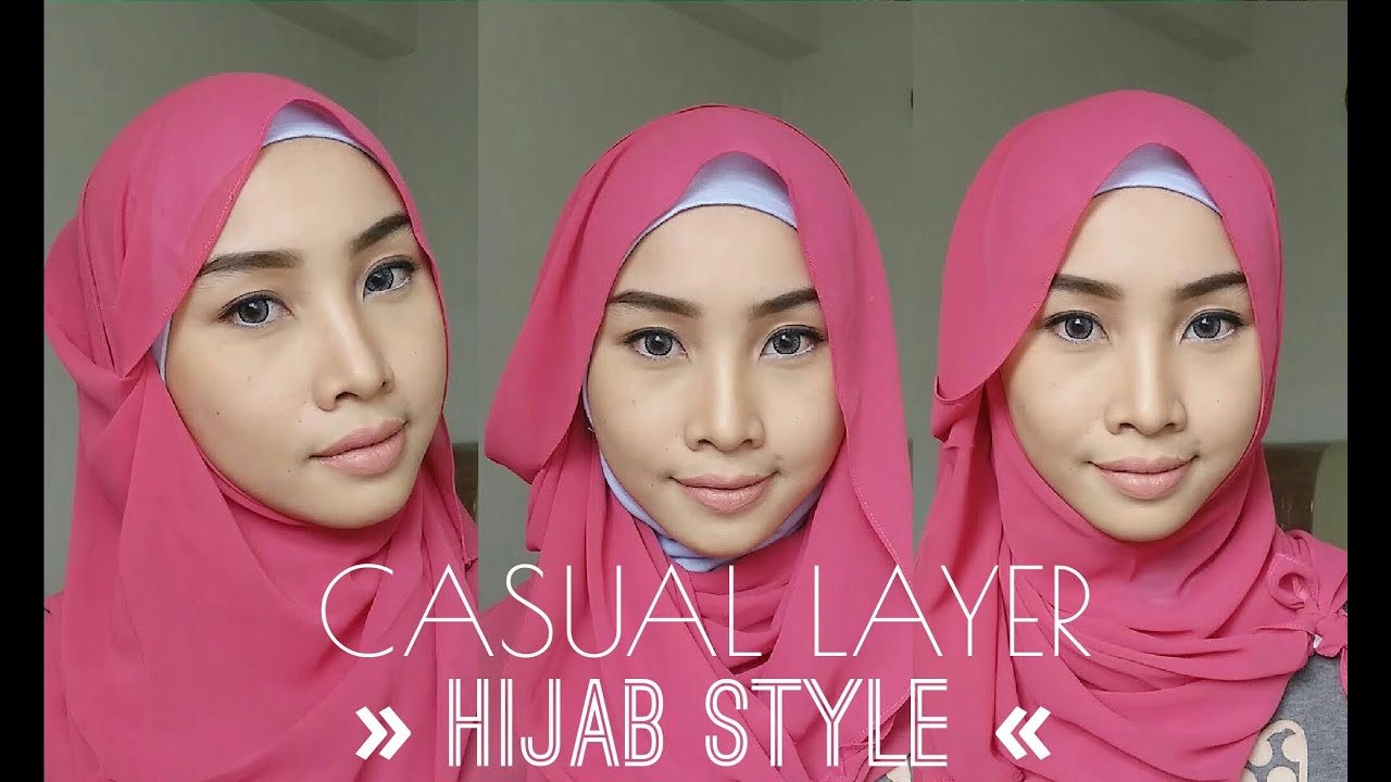 HIJAB TUTORIAL CASUAL LAYER STYLE IRNA DEWI YouTube