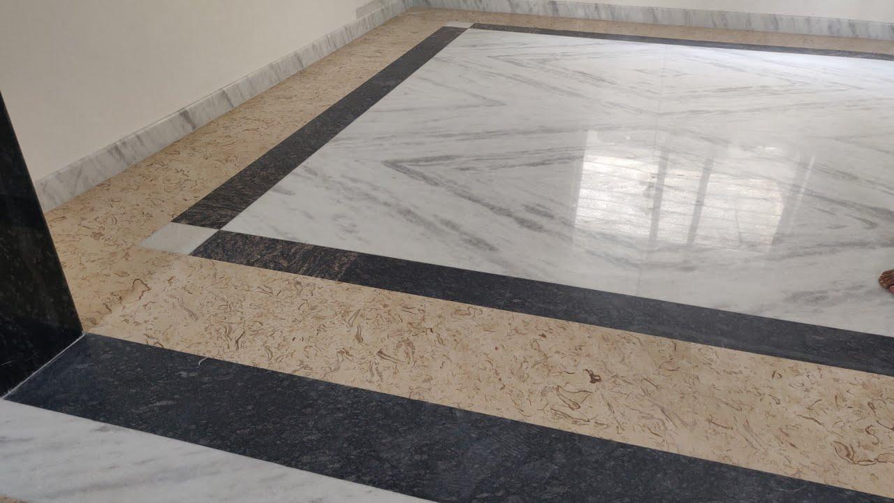 White Marble flooring, granite bouder design, door frame design, kitchen  wall tiles, price - YouTube