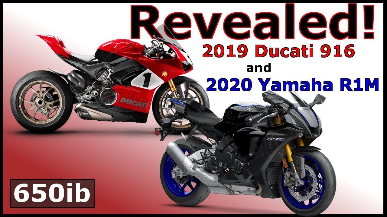 2019 Ducati Panigale 916 2020 Yamaha R1m Debut At Laguna Seca