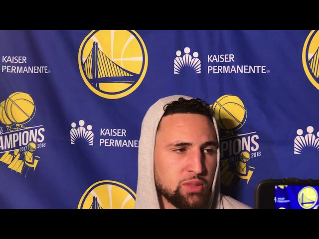 Golden State Warriors Guard Klay Thompson Postgame Interview — 12/3/18