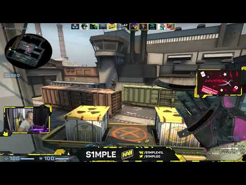 s1mple plays matchmaking on train with 36 kills