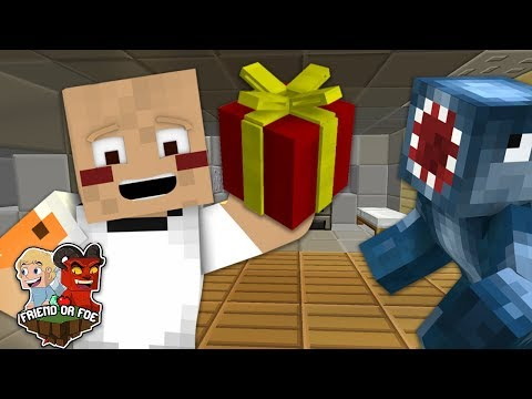 A PRESENT FOR SQUID - Minecraft Friend Or Foe #7