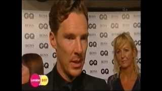 ♦ Benedict Cumberbatch (& Gerard Butler) at GQ Awards