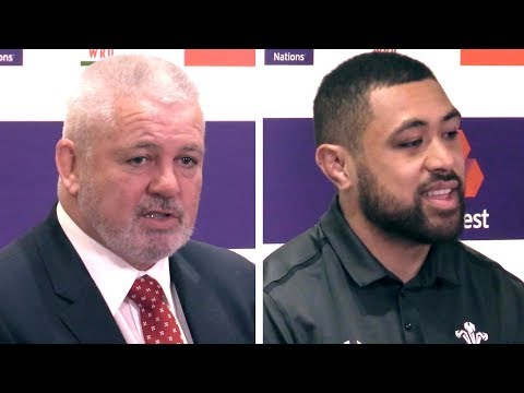 Wales v Italy - Warren Gatland & Taulupe Faletau Post Match Press Conference - Six Nations