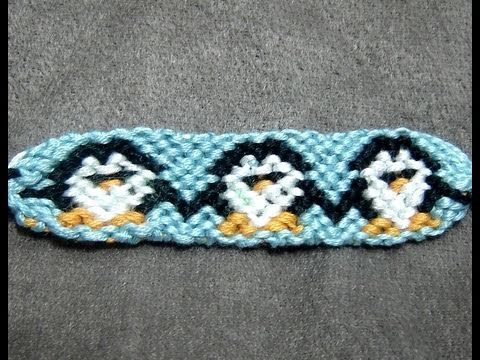 Friendship Bracelet Tutorial Intermediate Tuxedo