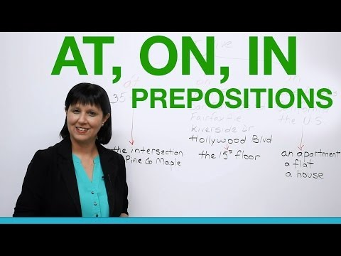 English Grammar - Prepositions to say where you live: AT, ON, IN