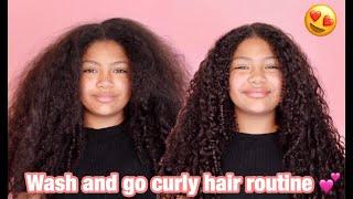 HOW I DO MY NIECE WASH AND GO CURLY HAIR ROUTINE -- IRISBEILIN