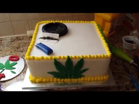 Marijuana Themed Cake - YouTube