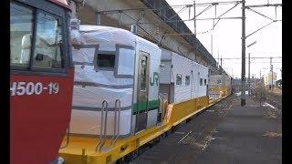キヤE195系1000番台(定尺編成)甲種輸送東仙台通過