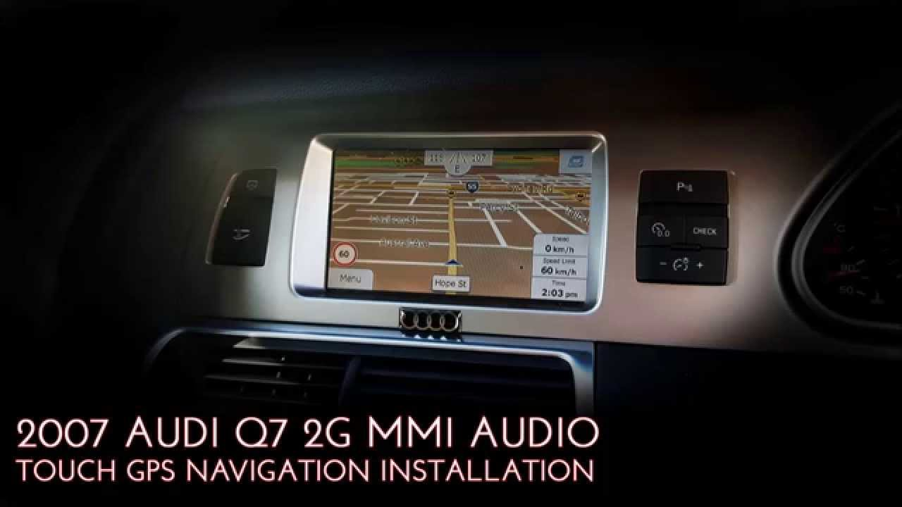 2006 2007 2008 AUDI A6 / Q7 GPS SAT Navigation Integration Genuine button  installation removal