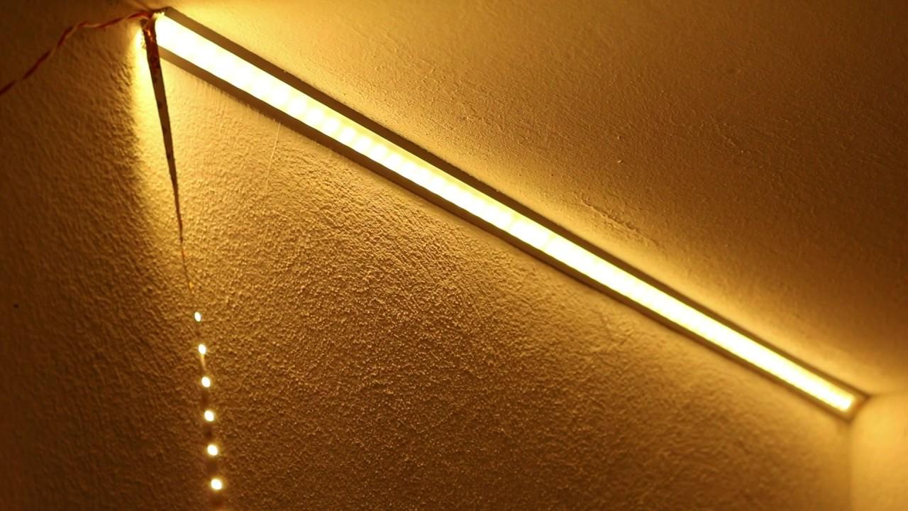 led strip mit alu profilen an der wand oder decke. Black Bedroom Furniture Sets. Home Design Ideas
