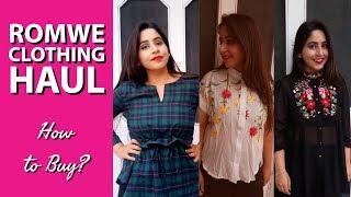 Romwe Clothing Haul | How to Buy from Romwe App? | Try On Haul