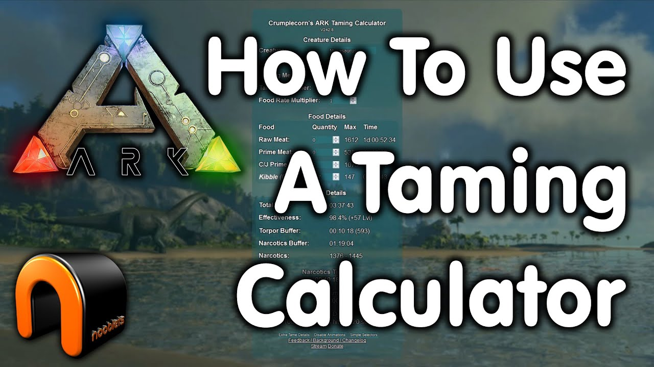 Ark: Survival Evolved - How To Use A Taming Calculator