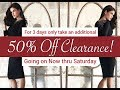 Fashion in 30 with Diana - Day 2 of the Clearance Sale!