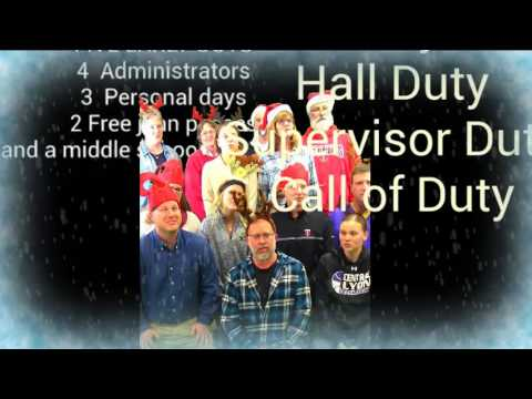 Central Lyon Middle School's 12 Days of Administration