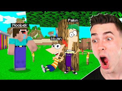 FINEASZ I FERB TROLL NA NOOBKU w Minecraft!