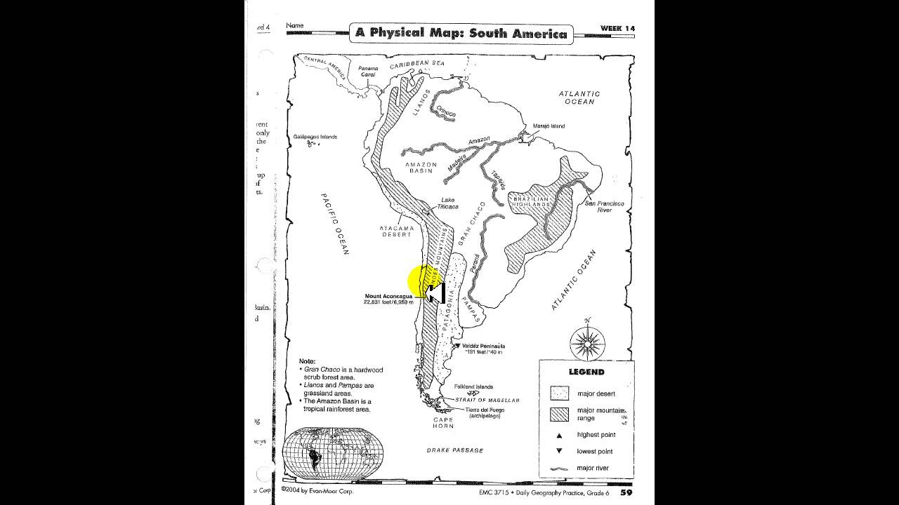 Daily Geography Week 14 A Physical Map South America - YouTube