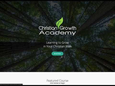 Christian Growth Academy Announcement1