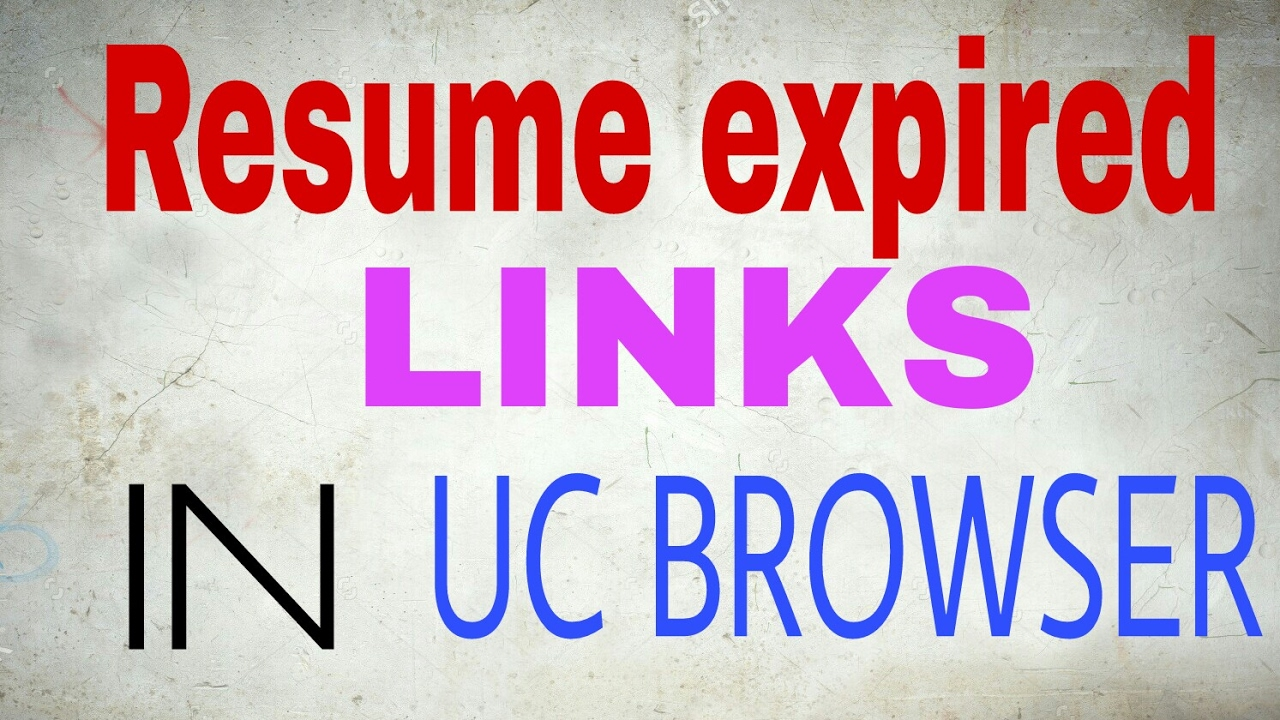 how to resume failed download in uc browser