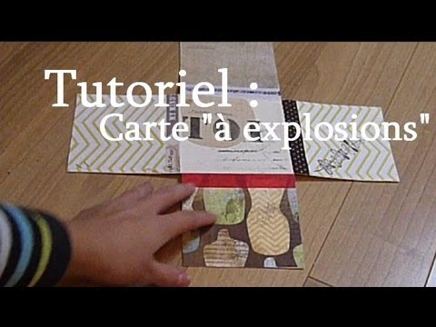 tutoriel r aliser une carte explosions scrapbooking diy explosions card youtube. Black Bedroom Furniture Sets. Home Design Ideas