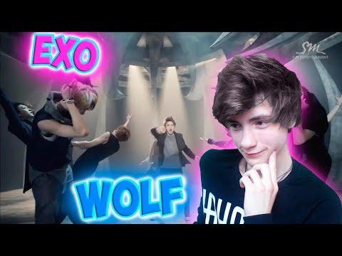 EXO 엑소 늑대와 미녀 Wolf MV Korean Ver Реакция  EXO  Реакция на EXO Wolf