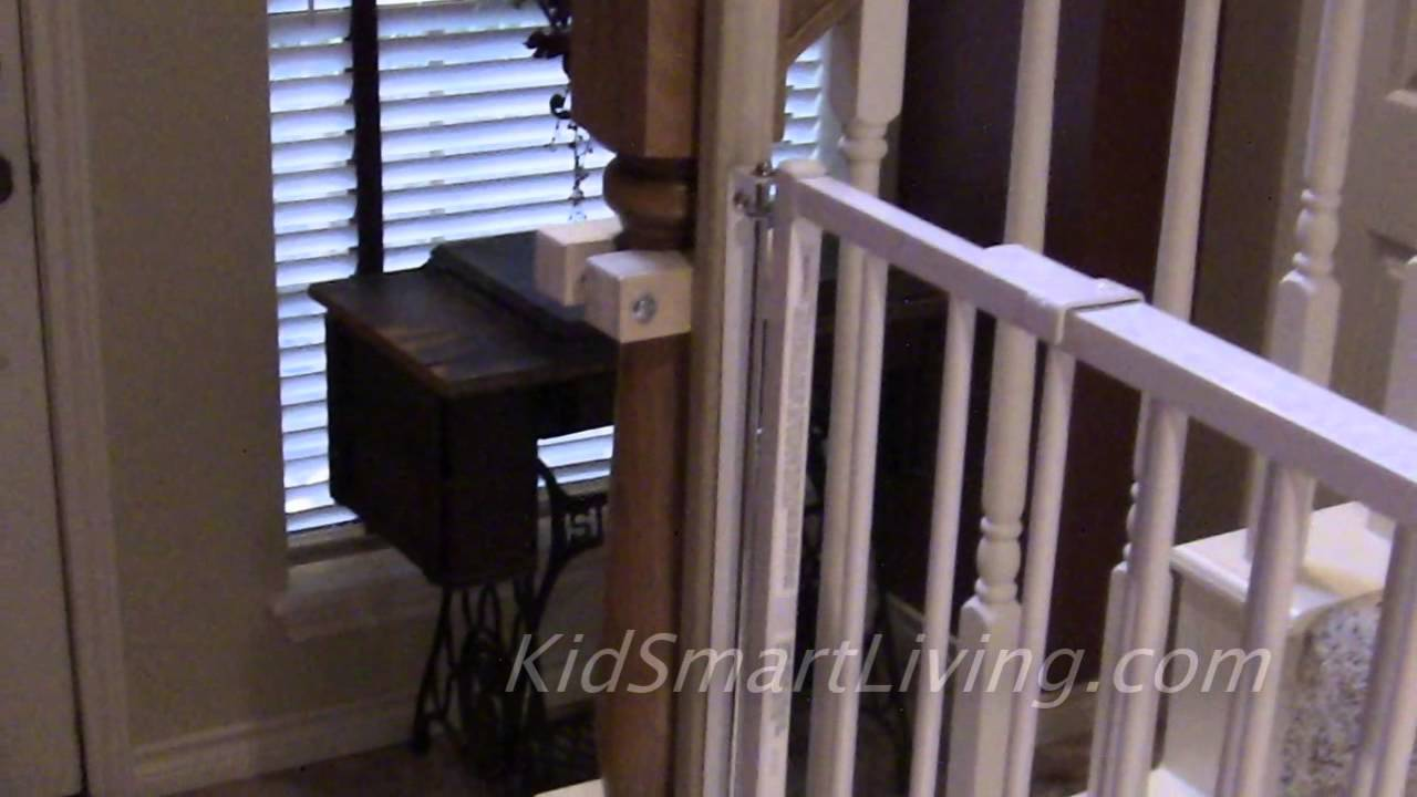 How To Install Baby Gates On Stairway Railing Banisters Without   Top Of Stairs Banister   Indoor   Rail   Barn Wood   Residential   Different Color