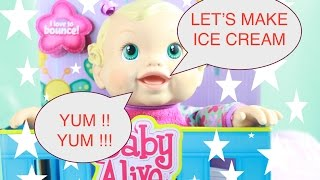 Baby Alive and Toby's Grandma Make Chocolate Ice Cream 2 in 1 Crazy Art