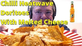 ASMR MUKBANG Eating Chilli Heatwave Doritos With Melted Cheese And Drinking Ice Cold J20