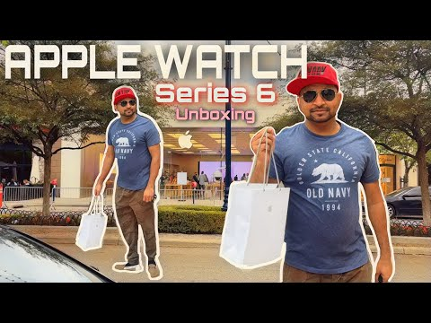 Unboxing New Apple Watch Series 6 GPS, 40mm Blue Aluminium Case with Deep Navy Sport Band 2021