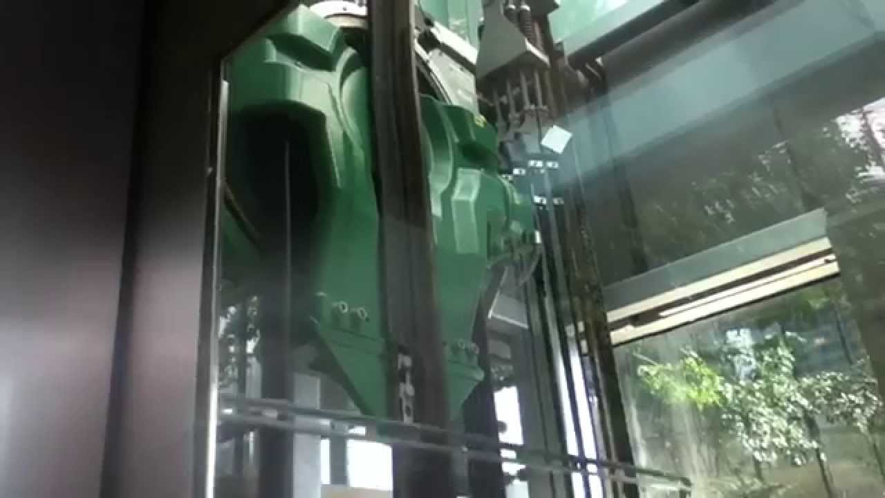 Another KONE EcoSpace MRL Scenic Elevator near Trump Tower in Chicago IL by  WI Sirens And Elevators