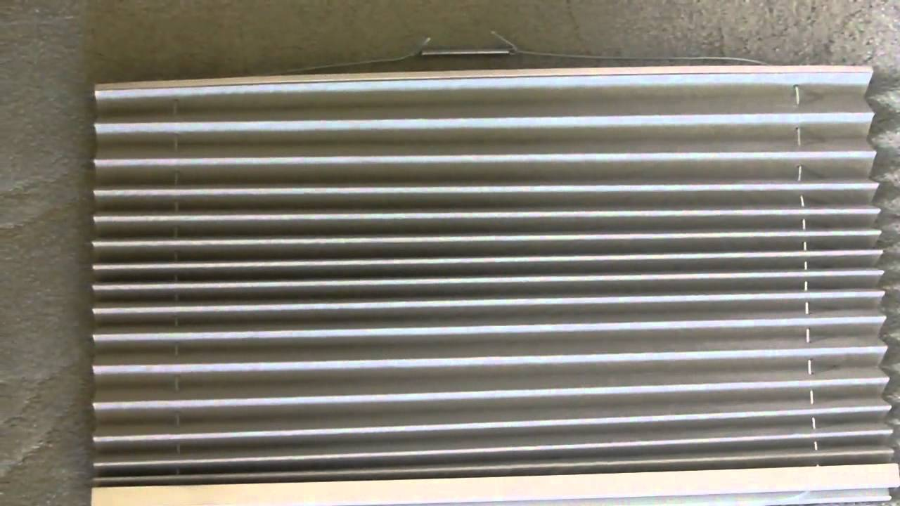 How To ReString a Pleated RV DayNight Window Shade  YouTube