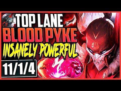 TOP LANE BLOOD MOON PYKE   SEASON 9 PYKE IS INSANELY POWERFUL   TOP Pyke vs Sion Season 9 Gameplay