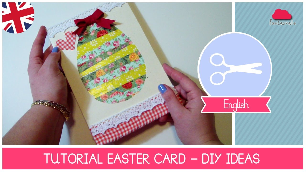 Easter Cards To Make Ideas Part - 33: EASTER Ideas: How To Make A Easter Egg Card Scrapbooking Style - DIY  Tutorial By Fantasvale