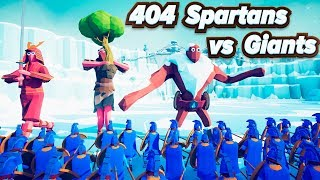 TABS 404 Spartans vs Giants - Totally Accurate Battle Simulator