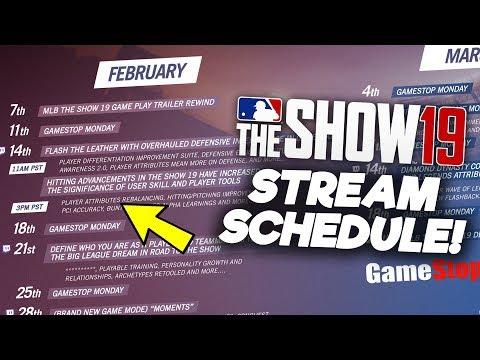 MLB The Show 19 Developer Stream Schedule!