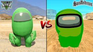 GTA 5 AMONG US VS GTA SAN ANDREAS AMONG US - WHICH IS BEST?