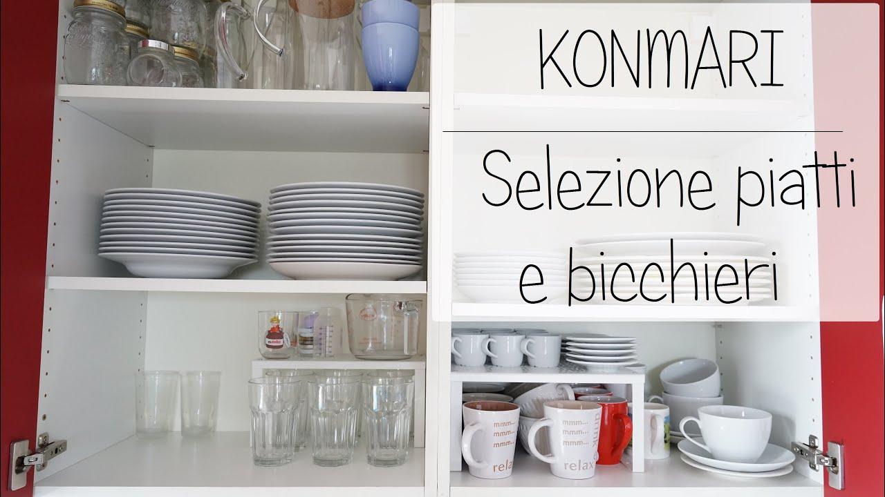 Selezione piatti e bicchieri marie kondo youtube - Metodo kondo cucina ...