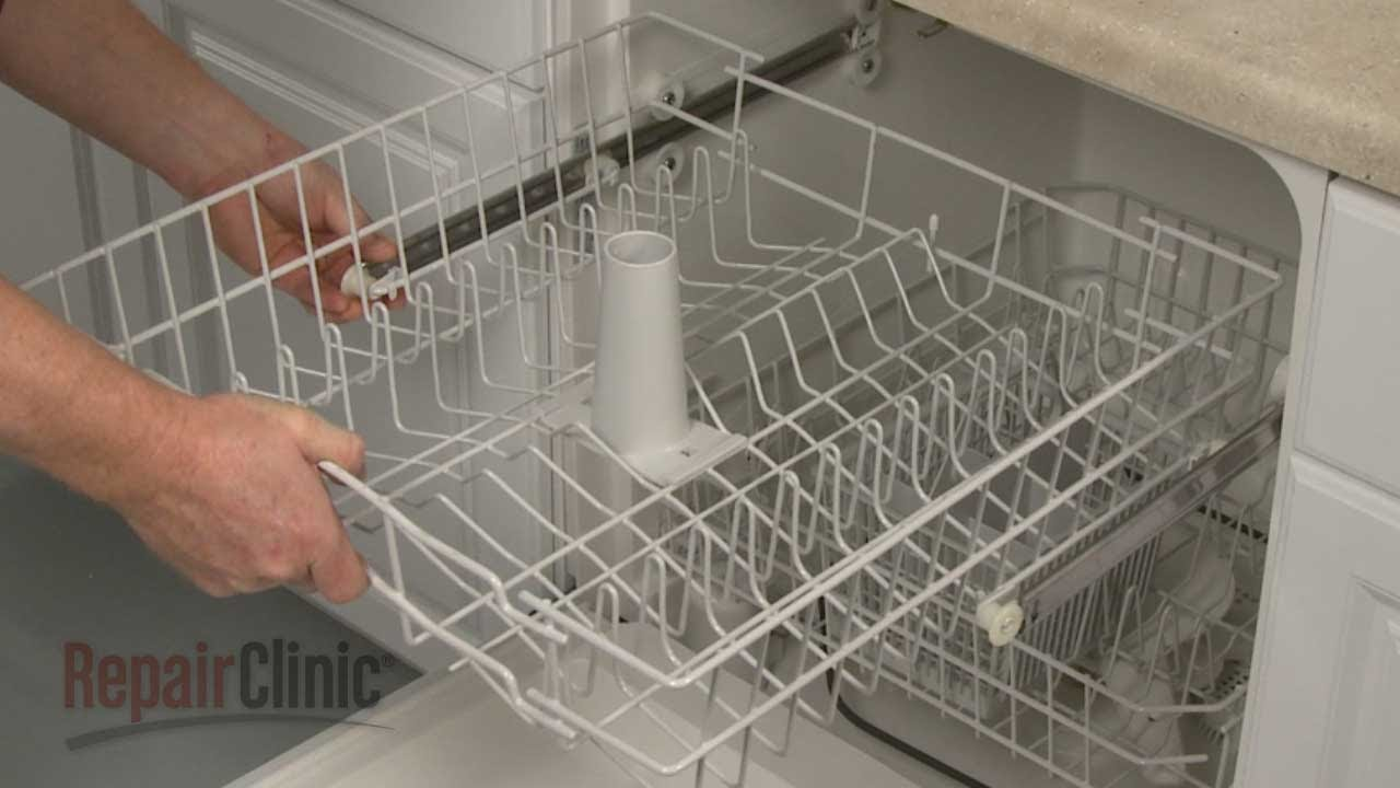 ge dishwasher upper dish rack assembly replacement wd28x10210