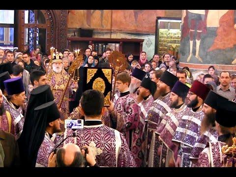 Богослужение в Успенском соборе Московского Кремля