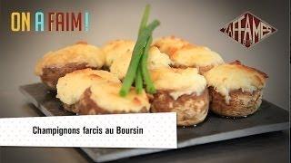Recette de champignons farcis au Boursin, On a faim!